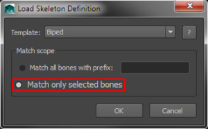 Match only selected bones