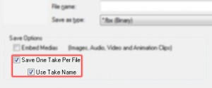 Save One Take Per File Use Take Name