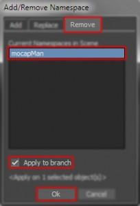 Add/Remove Namespace