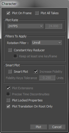 Plot Properties Window